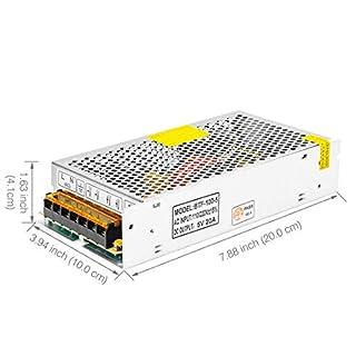 BTF-LIGHTING DC5V 20A 100W Aluminum Power Supply for WS2812B APA102 LED8806 WS2801 SK6812 LED Strip Modules Light