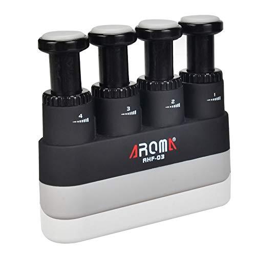 OTraki Fortalecedor de Mano Tensión Ajustable 4-7 Libras Ejercitador de Dedos con Almohadilla de Silicona Estuche de ABS Aparato para Entrenar Dedos para Ukulele o Guitarra
