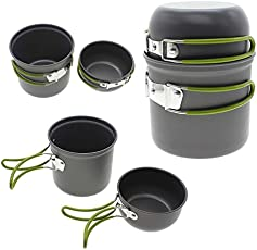 SHOPEE Branded Small Portable Cooking Picnic Bowl Pot Pan Set for Outdoor Backpacking Camping Hiking Cookware Pot Set