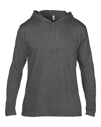 MAKZ Herren Langarmshirt Heather Dark Grey/Dark Grey