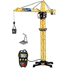 Dickie - Mega grúa por cable, color amarillo ( 3462411)