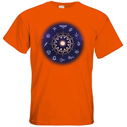 getshirts - Das Schwarze Auge - T-Shirt - Götter - Zwölfgötterkreis AGW Orange