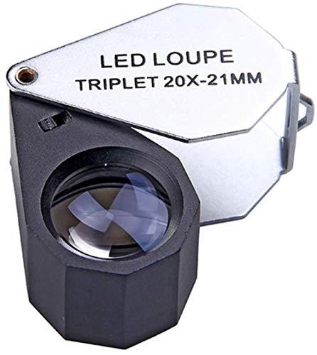 Asnvvbhz portatile pieghevole lente d'ingrandimento ad alta definizione jade gioielli lente d'ingrandimento antica identificazione 10 volte 20 volte 30 volte ingrandimento specchio for gli anziani deg