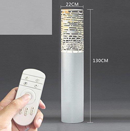 DZW Moderne einfache stehlampe Wohnzimmer schlafzimmer couchtisch kreative objekte Hohl gravur Nordic sofa nachttischlampe 3 Arten von größe verfügbar, Lichtquelle E27 , 22*130cm white stepless light,Einfach (Frosted Glas Couchtisch)
