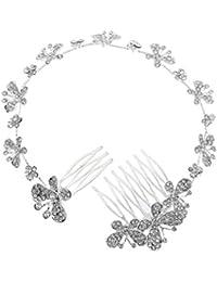 YAZILIND tocados Novia Diademas para el Pelo Mujer tocados de Pelo Estilo de la Flor de la joyer¨ªa del Vestido de Pelo (Estilo12)