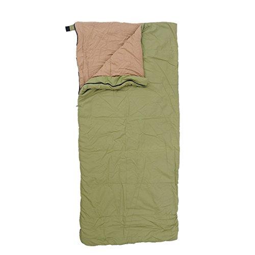 Yy.f Ferien Leichte Leinwand Rucksack Schlafsäcke Wandern Camping Ultra-light Kompakte Taschen Tragen Taschen Heizung Schlafsack Als Decke Oder Isomatte,Green-218*101cm (Kompakte Doppel-heizung)