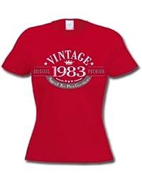 1983 Vintage Year - Cadeau d'anniversaire 33 ans T-Shirt Femme
