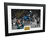 """Cristiano Ronaldo 12x8 A4 Signed""""The Overhead Goal"""" -""""Juventus 0 vs Real Madrid 3"""" - Autographed Photo Photograph Picture Frame Gift"""