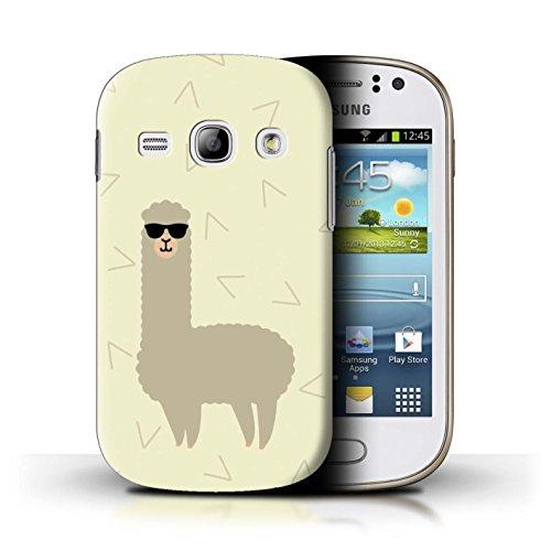 Stuff4® Hülle/Case für Samsung Galaxy Fame/Coole Sonnenbrille Muster/Karikatur Alpaka Kollektion