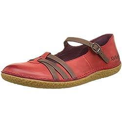 KickersHibou - Bailarinas Mujer , color rojo, talla 40 EU