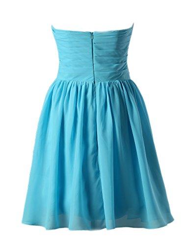 Dresstells, A-ligne longueur genou robe de demoiselle d'honneur Robe courte de cocktail Lavande