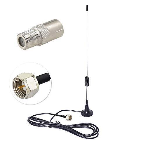 Bingfu FM UKW Radio Antenne F Stecker Magnetfuß Zimmerantenne mit 2M Verlängerungskabel Kompatibel mit Yamaha JVC Sony Bose-Radioempfänger MEHRWEG (Indoor Antenne / Fm Am)