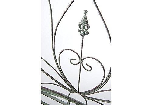 Kobolo Metall-Sitzbank mit Ornamenten Metallbank - 4