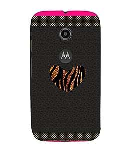 Chill Heart Pattern 3D Hard Polycarbonate Designer Back Case Cover for Motorola Moto E2 :: Motorola Moto E (2nd Gen)