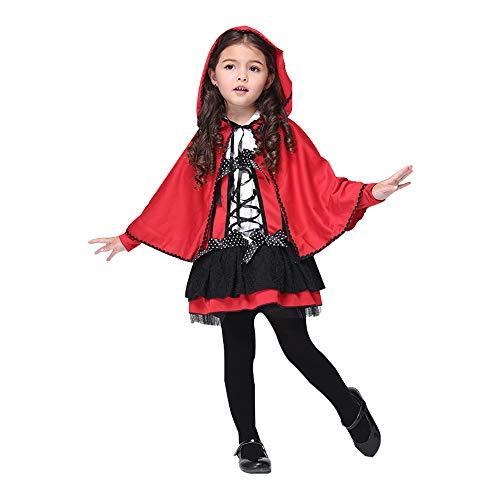 DULEE Mädchen Teufel Halloween Kostüme Red Devil Rollenspiel Cosplay Dress mit Umhang - Red Devil Dress Kostüm