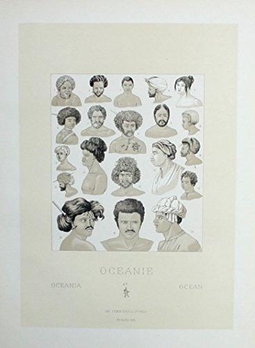 Australien Australia costumes Trachten Lithographie lithograph