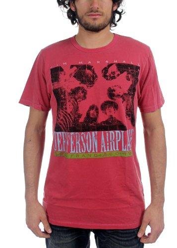 jefferson-airplane-birds-eye-view-t-shirt-des-hommes-en-rouge-xx-large-red