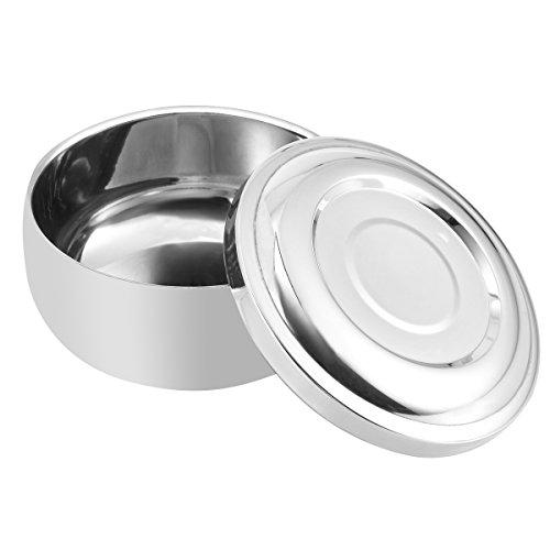 Heallily Herren Rasierseifenschale mit Deckelgröße Rasierschalenbehälter (Splitter)