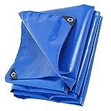 LG-ZWHL Outdoor Durable Plane - Staubdicht Regenfeste Plane, Anti-Aging-Isolierung - Camping Angeln Gartenarbeit (Color : Blue, Size : 6x8m)