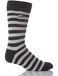 Mens 1 paire Pour les fans de football Chaussettes en noir et blanc