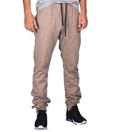 Betterstylz BradleyBZ PLN Chino-Jogger Pantalon Chino élégant Homme 3 couleurs (S-XXL) Sable/beige