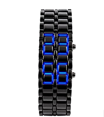 Domire Metal Strap Lava Style Digital LED Watch produced by Domire - quick delivery from UK.