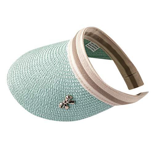 Yesmile Sombrero de Paja Sombrero de Paja Sombrero de Verano con protección Solar para el Sol Sombrero de Verano Apto para Todo Tipo de Actividades al Aire Libre