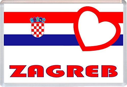 Zagreb - Love Croatia/Croation Towns & Cities - Jumbo Fridge Magnet - Brand New Gift/Present/Souvenir