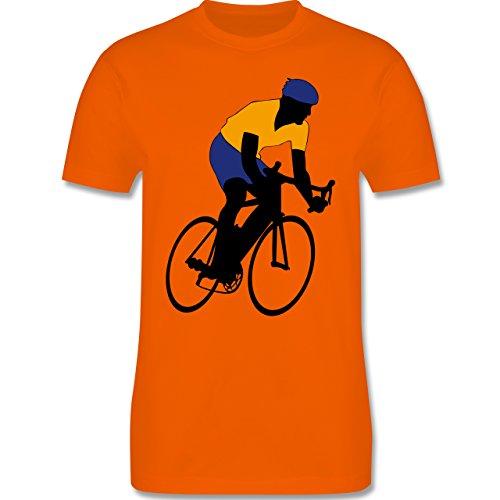 Radsport - Rennradfahrer - Herren Premium T-Shirt Orange