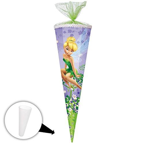 alles-meine.de GmbH passende 3D LED Licht & Leucht - Schleife - für Schultüte -  Disney Fairies - Fee Tinkerbell  - 70 / 85 cm - Zuckertüte - ALLE Größen - Nestler - rund oder .. -