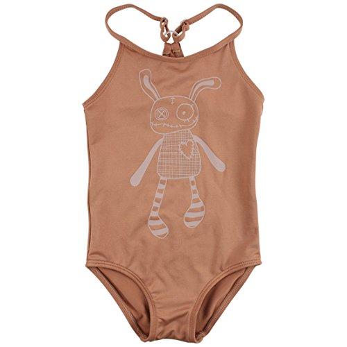 Small Rags Mädchen Baby- und Kinder Badeanzug, 92% Polyester 8% Spantex, UV Schutz 50, Moccabraun, Gr. 86/92, Bay Bathing Suit Mocha Mousse 60240 (Mocha Mädchen)