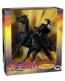 Figurine de collection Zorro en selle sur son cheval Tornado - 30 cm - Giochi Preziosi