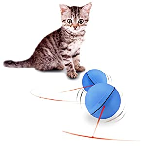 Jouets Chat Angelof 2017 Led Laser Red Light Rolling Ball éLectronique Indestructible Plastique Rebondissante Tissu Balle Chaton