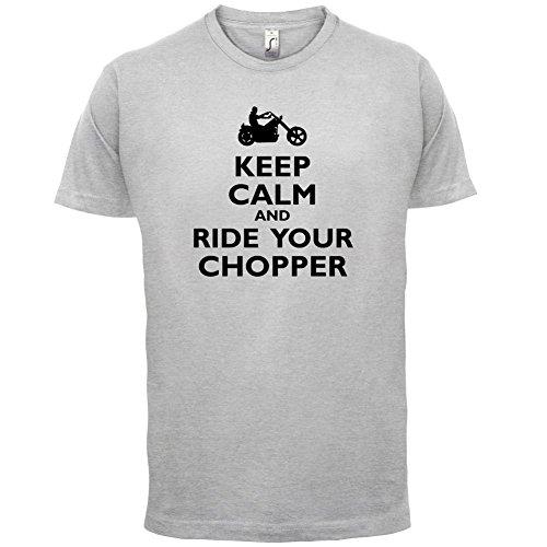 Keep Calm and Ride Your Chopper - Herren T-Shirt - 13 Farben Hellgrau