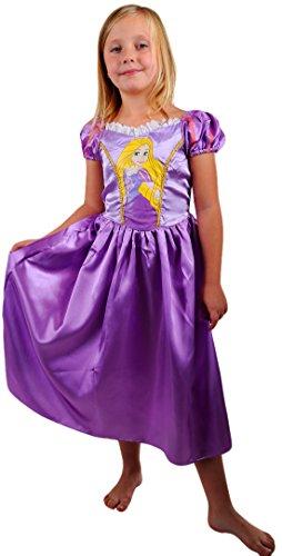 erdbeerloft - Mädchen Karneval Kostüm- Disney Rapunzel Cinderella Prinzessin Engel Fee Elfe Märchen, lila, 7-8 (Kleinkind Lila Kostüm Fee)