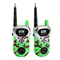 Hmyloz Kids Walkie Talkies Long Distance 2 Way Radio Fireman Sam Costume Radio Spy Kit for Children Gifts-1 Pair