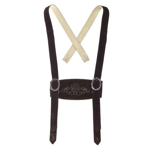 Klassische Hosenträger für Trachten Lederhosen Hosenträger H-Träger Dunkelbraun