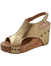 Sandalias para Mujer Verano 2018 PAOLIAN Zapatos de Plataforma Tacón de Cuña Playa Romano Sandalias de Vestir Open Toe Fiesta…