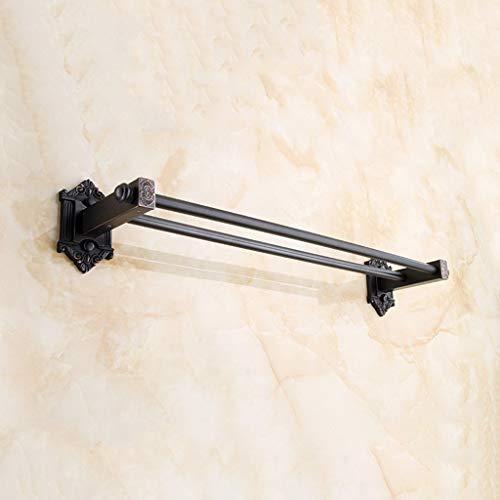 W-Y Schwarzes Badezimmer-Starke Wand-Hängende Handtuchstange, Antiker Kreativer Handtuchhalter -