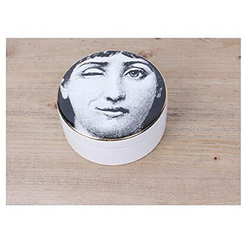 SUNNYFOR Fornasetti Contenitore di Monili di semplicità Collana di Pendente di Fornasetti Orecchini Collettivi Forniture Artigianali in Ceramica di Fascia Alta