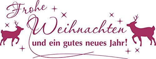 GRAZDesign Türaufkleber Weihnachten - Wanddeko Silvester - Schaufenster Elch - Wandtattoo Sterne / 79x30cm / 821 Magnolia / 830027_30_821