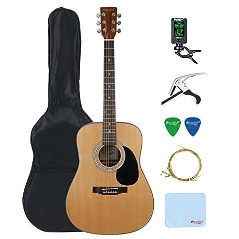 Guitare Folk Acoustique Dreadnought 41 pouces 4/4 Taille Pleine Epicéa Guitare Acoustique-Strong Wind