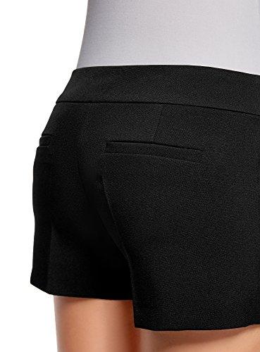 oodji Ultra Damen Kurze Shorts Basic Schwarz (2900N)