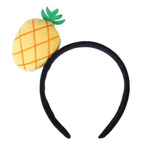 Amosfun Plüsch Haarband Prop Stirnband niedlichen Obst frische Kopfbedeckungen Haarschmuck für Party Cosplay Haar Dekor (Ananas)