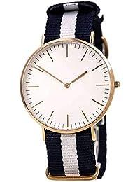 Salecrowd DW 3 Patta | White & Black Colored Belt & White Dial | Casual Wear | Fashion Wear | Stylish | For Girls...