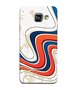 Fuson Designer Back Case Cover for Samsung Galaxy A5 (6) 2016 :: Samsung Galaxy A5 2016 Duos :: Samsung Galaxy A5 2016 A510F A510M A510Fd A5100 A510Y :: Samsung Galaxy A5 A510 2016 Edition (Wavy Blue Red White Zigzag Lines )