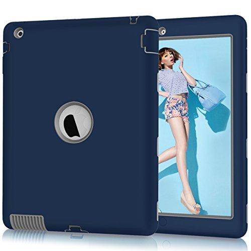 case Rugged Slim stoßfest Silikon Schutzhülle Cover für 9,7iPad 2./3./4. Generation ()