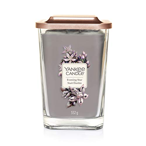 Yankee Candle Elevation Kollektion mit Plattformdeckel Große 2-Docht-Quadratkerze, Evening Star -