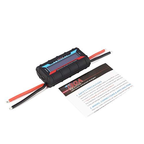 Noradtjcca Digitale Spannung Leistung Watt Strom Energiezähler Analysator Tester Checker für RC Drone Batterie Motor Ladegerät 60V 130A Wattmeter (Strom-checker)