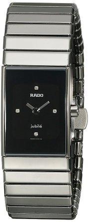 RADO WOMEN'S CERAMIC GREY CERAMIC CASE ANALOG QUARTZ WATCH R21827752 SWISS